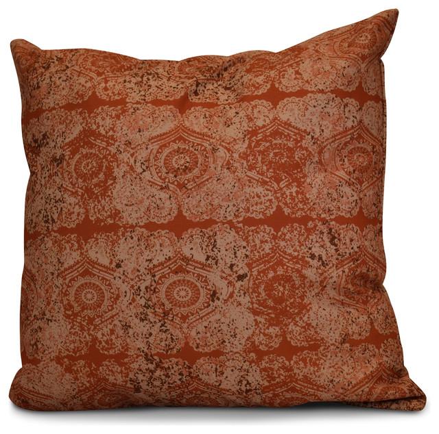 Decorative Pillow Rust : Patina Geometric Print Pillow - Decorative Pillows - by E by Design