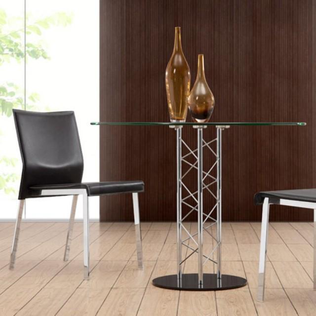 Zuo Chardonnay 5 Piece Glass Dining Table Set ZMC592
