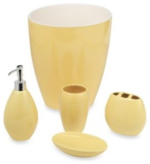 Wamsutta Elements Yellow Lotion Dispenser Contemporary Soap Lotion Dispensers By Bed