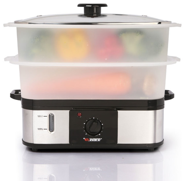Largest Capacity Rice Cooker Steamer ~ E ware dual layer multi purpose large food steamer