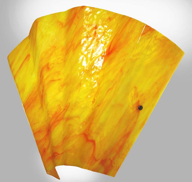 Contemporary Art Glass Wall Sconces : Sensu Art Glass Wall Sconces in Orange, Red & White glass - Contemporary - Wall Sconces ...