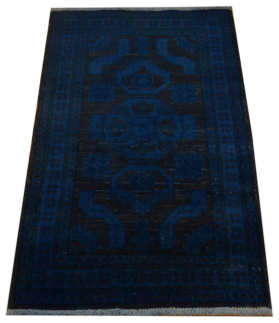 100 Wool Persian Area Rug: 100 Percent Wool Overdyed Kazakh Hand Knotted Oriental Rug