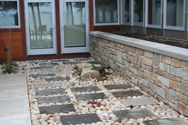 Natural Stone Retaining Wall Traditional Landscaping Stones And Pavers