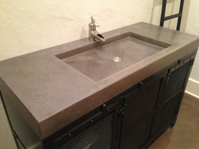 Concrete Counter Tops Contemporary Vanity Tops And Side Splashes St Louis By Customcrete