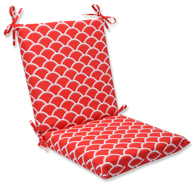 Sunny Red Squared Corners Chair Cushion beach-style-outdoor-cushions ...