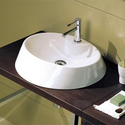 Unique Round White Ceramic Vessel Sink By Scarabeo