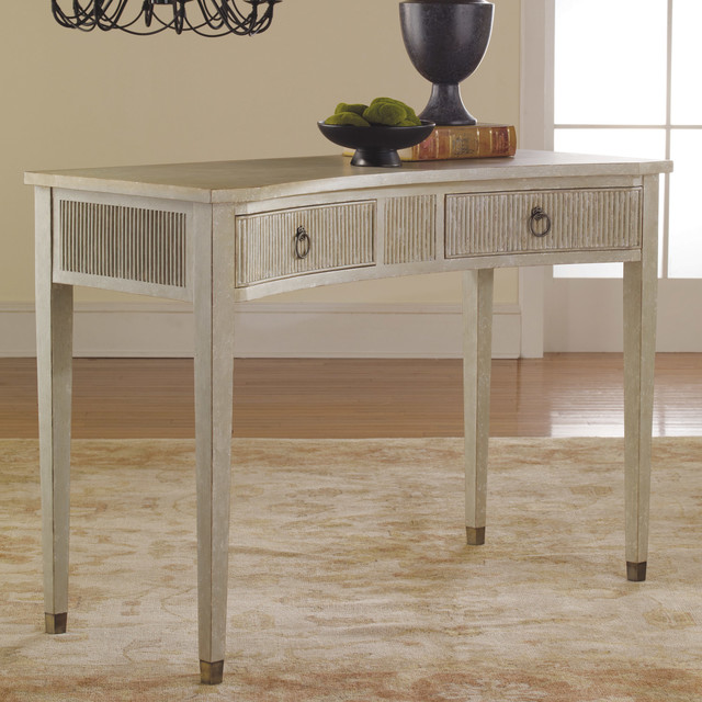 Modern History Home Gustavian Concave Console Table