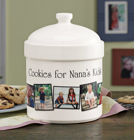 Personalized Photo Cookie Jar Traditional Kitchen
