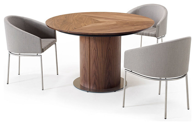 Round pedestal dining table modern dining tables by for Modern round kitchen table