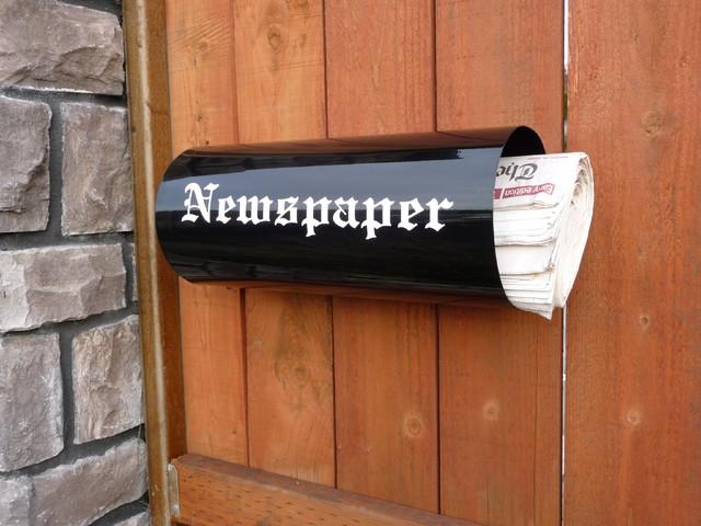 Newspaper Holder Contemporary Mailboxes Portland