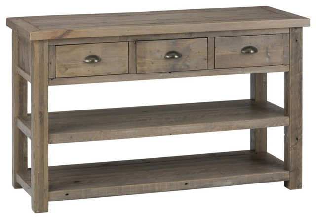 Jordan sofa table reclaimed pine traditional console for 10 inch sofa table