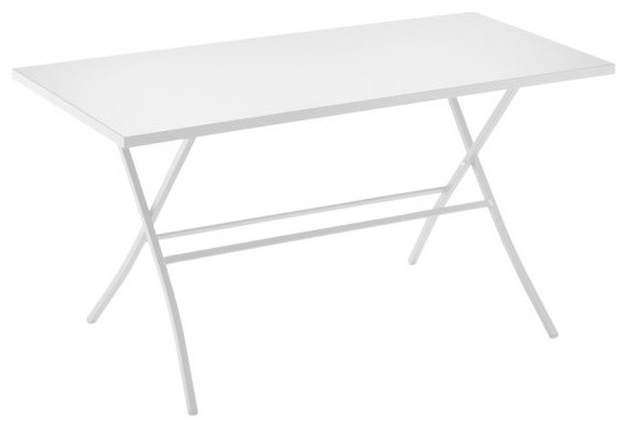 Rectangular Folding Dining Table White Traditional Folding Tables