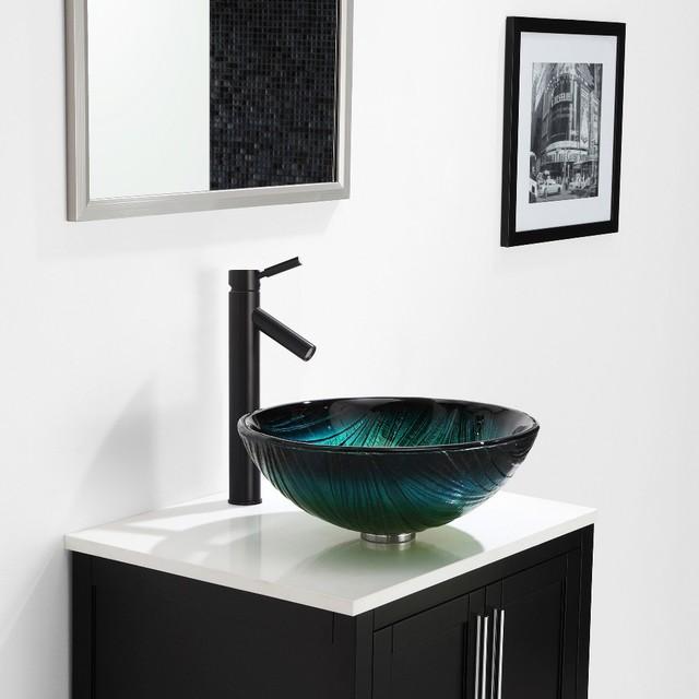 Kraus Glass Vessels & Bathroom Faucets - Contemporary - Bathroom Sink ...