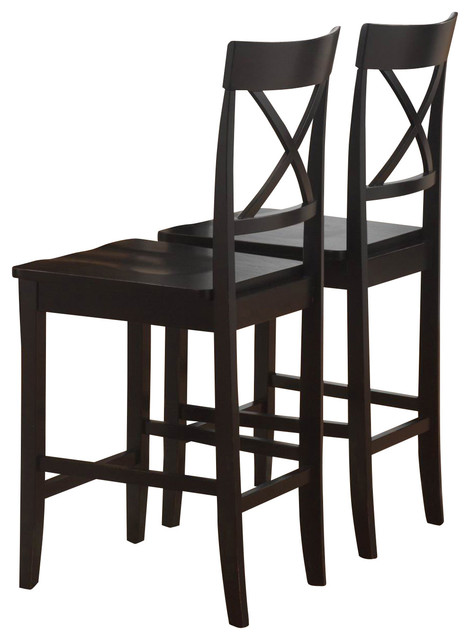 Homelegance Billings Wood Counter Height Chair In Black Traditional Dining Chairs By