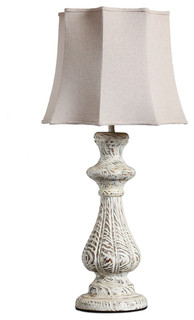 white painting finish wooden candle table lamp traditional table lamps. Black Bedroom Furniture Sets. Home Design Ideas