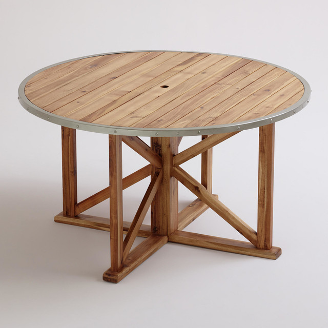 Round Antigua Outdoor Dining Table Contemporary