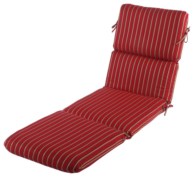 Beach Style Outdoor Cushions : Phat Tommy Chaise Lounge Cushion, Crimson - Beach Style - Outdoor Cushions And Pillows - by ...
