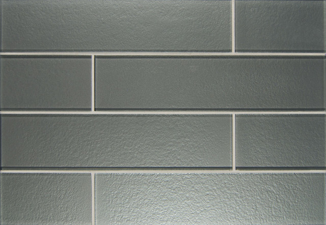 2x8 Matte Glass Subway Tile Sample Contemporary Wall And Floor Tile