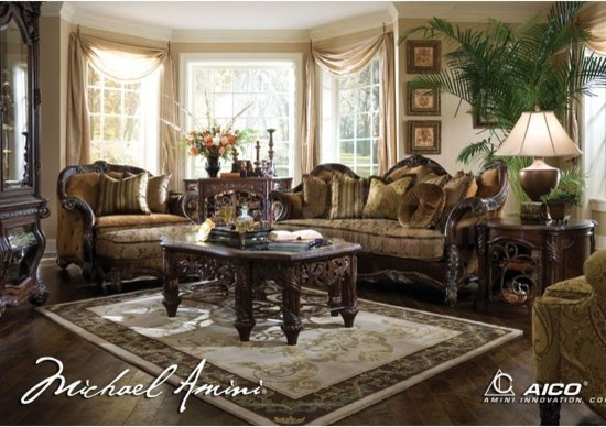 AICO Furniture Es Manor Living Room Set s c