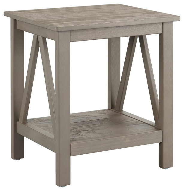 Titian rustic gray end table contemporary side tables amp end tables