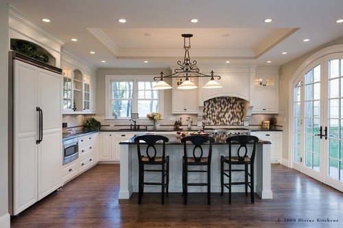 Kitchen 10 39 Ceiling Height With Soffit Tray