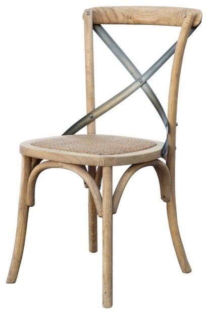 cross back dining chair natural country dining chairs. Black Bedroom Furniture Sets. Home Design Ideas