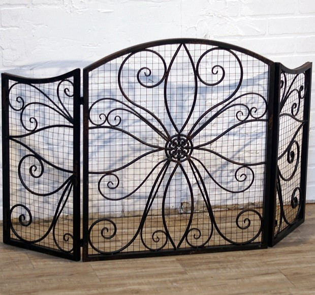 Decorative fireplace screen other metro by antique Decorative fireplace screens