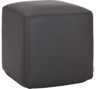 Bloc repose pieds en cuir moderne repose pieds pouf for Cube miroir habitat