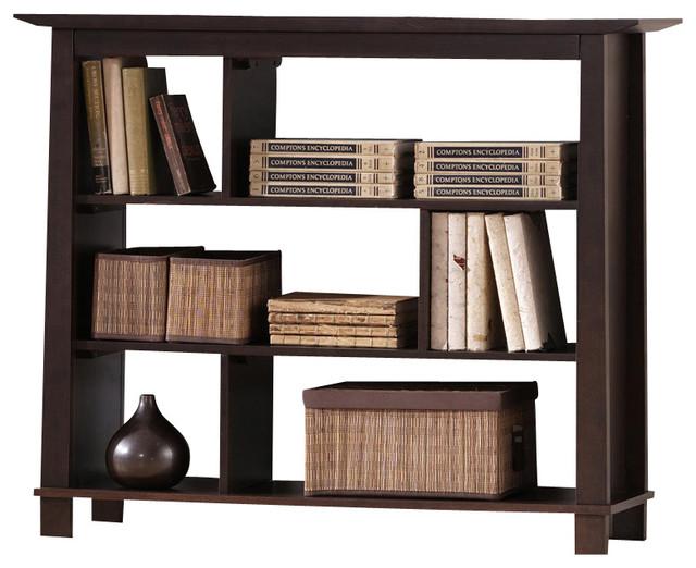 Baxton Studio Havana Brown Wood Modern Bookcase (Short) - Transitional - Bookcases - other metro ...