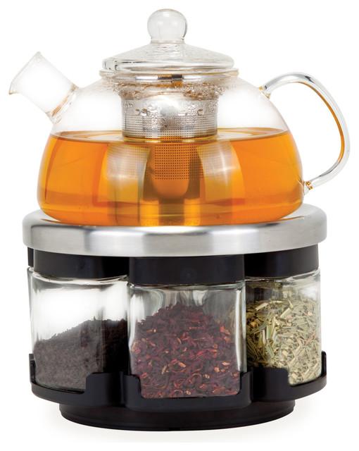 Modern Glass Coffee Maker : Infusions Glass Tea Rack Set - Modern - Coffee And Tea Maker Accessories - by ORII USA