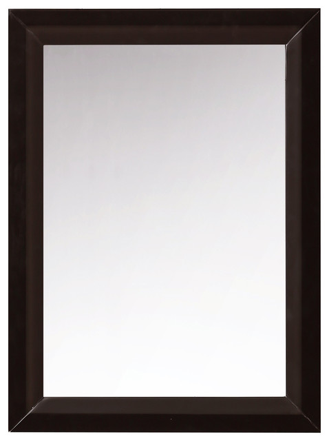 "Ancerre Designs 28"" Solid Wood Framed Mirror Espresso"