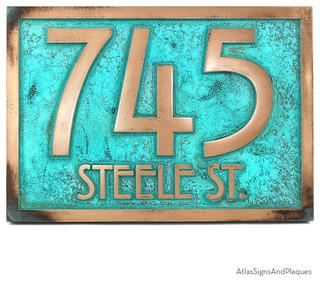 stickley address plaque 12 5 x in bronze verdi. Black Bedroom Furniture Sets. Home Design Ideas