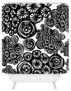 Julia Da Rocha Circo Doodles Shower Curtain Contemporary