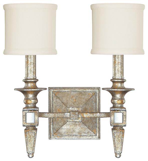 Houzz Bathroom Lighting Fixtures: Capital Lighting 8482SG-535 Palazzo 2 Light Wall Sconce