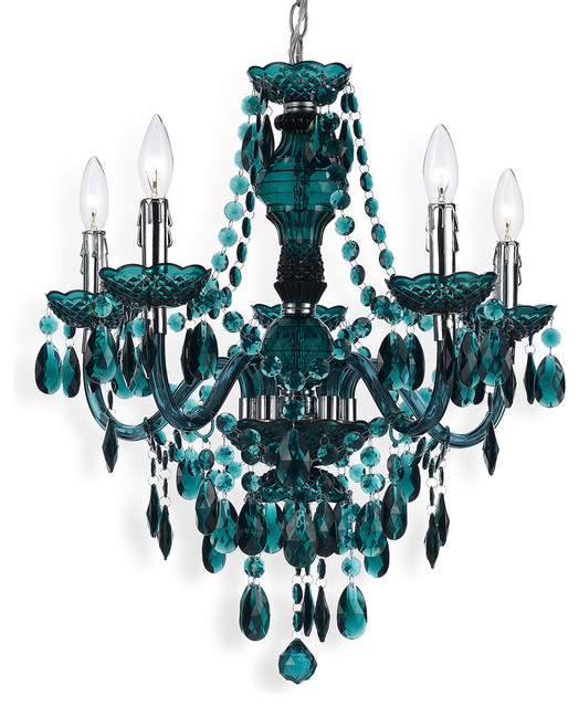 Annette Beaded Wood And Metal Chandelier