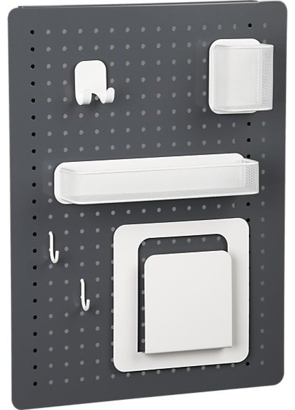 Peggy Grey and White Board Set - Modern - Pantry And ...
