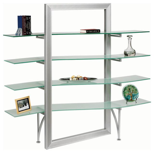 dainolite dbs 400 gl sv elegant free standing shelf. Black Bedroom Furniture Sets. Home Design Ideas