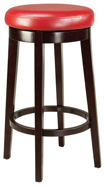 Standard furniture smart stools bar height round red upholstered transitional bar stools and - Standard counter height stool ...