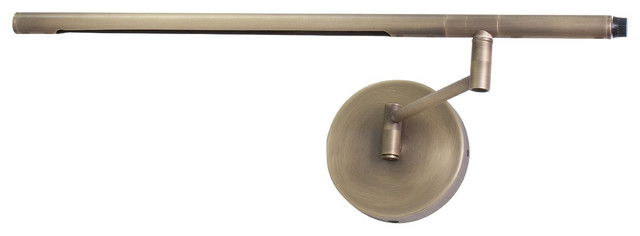 Wall Mounted Brass Reading Lamps : Slimline LED Swing Arm Wall Mount Reading Light - Modern - Swing Arm Wall Lamps - by Pegasus ...