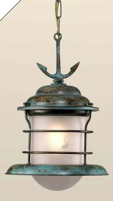 Fredeco Hanging Nautical Pendant With Anchor By Fredeco