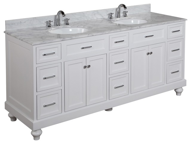 Amelia Bath Vanity Carrara White 72 Single