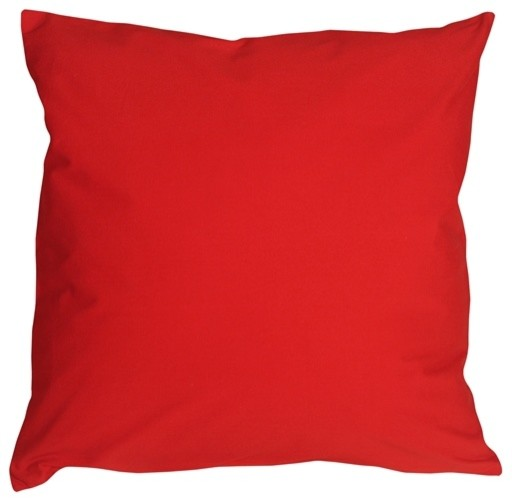 Pillow Decor - Caravan Cotton Red 20 x 20 Throw Pillow - Contemporary - Decorative Pillows - by ...