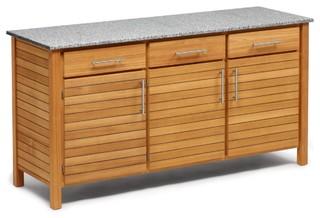 deck outdoork che 3er element bauhaus look outdoor k che von. Black Bedroom Furniture Sets. Home Design Ideas