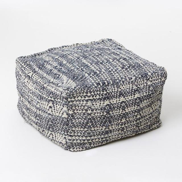 Floor Pillows West Elm : Denim Pouf - Contemporary - Floor Pillows And Poufs - by West Elm