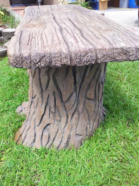 Faux Concrete Wood Plank Bench Www Visualartisan Net