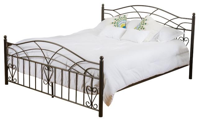 Edsel Cal King Size Iron Bed Frame Black