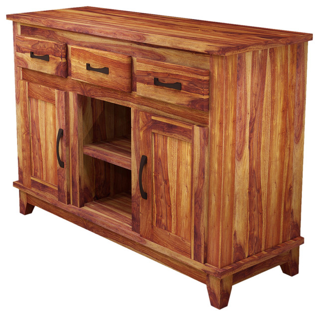 Sierra modern rustic solid wood sideboard buffet storage
