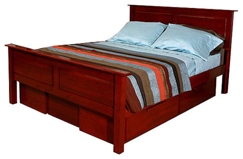 The bedworks of maine franklin mattress box spring frame low footboard queen traditional - Platform bed frame australia ...