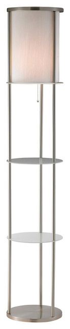 Adesso 3666 22 holden shelf floor lamp modern for Floor lamp with shelves australia