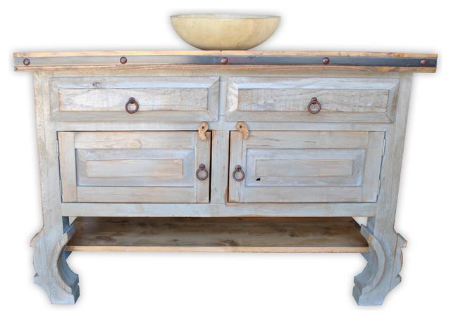 san nicolas 48 quot rustic vanity vintage gray asian